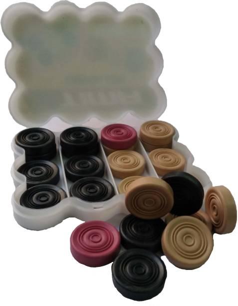 Tima Carrom Board Coins Accessories Used in International Carrom Tournament (Plastic) Carrom Pawns