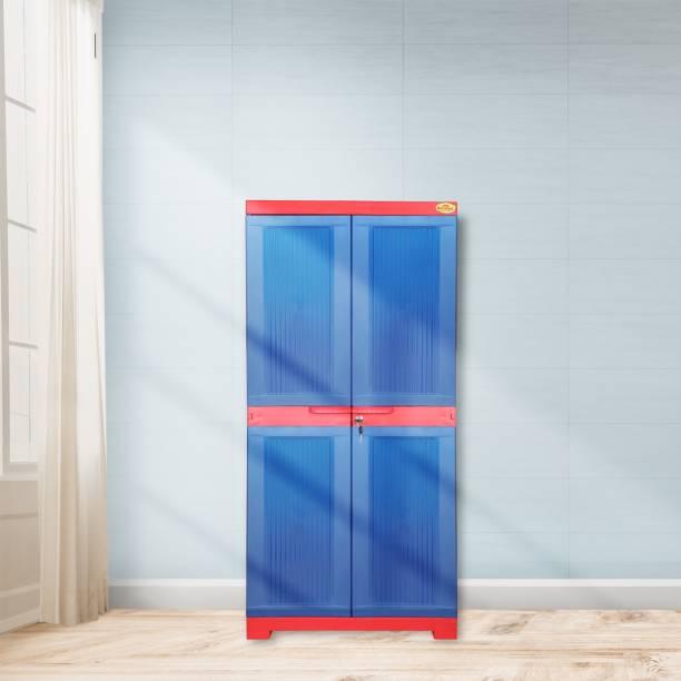 National Planet Power Medium Plastic Storage Cabinet,Red & Blue Plastic Cupboard