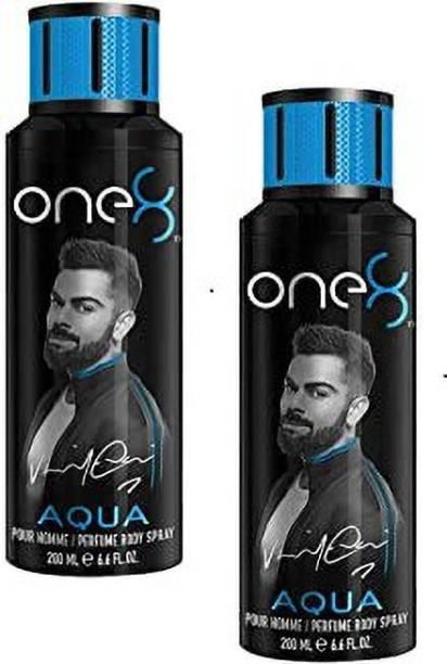one8 by Virat Kohli Aqua Deodorant –2Pcs A01 Deodorant Spray  -  For Men