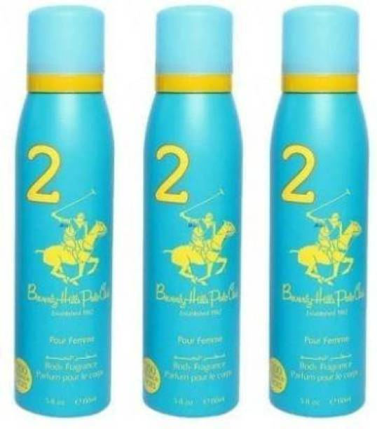 BEVERLY HILLS POLO CLUB 2 For Women PACK OF 3 Deodorant Spray - For Women Deodorant Spray  -  For Women