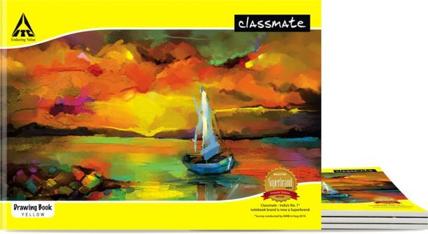Classmate Drawing Book 210 mm x 297mm A4 Notebook Unruled 40 Pages