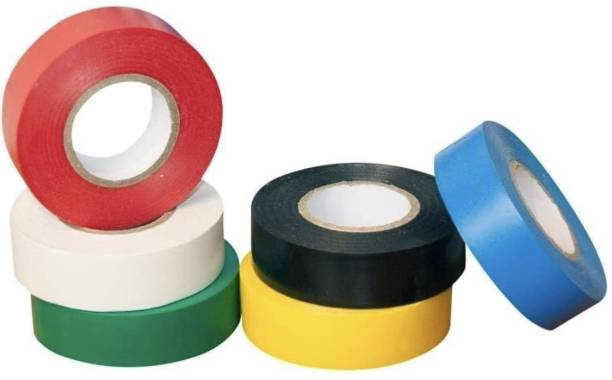 DLM PVC Tape PVC electrical insulation tape (pack of 10)