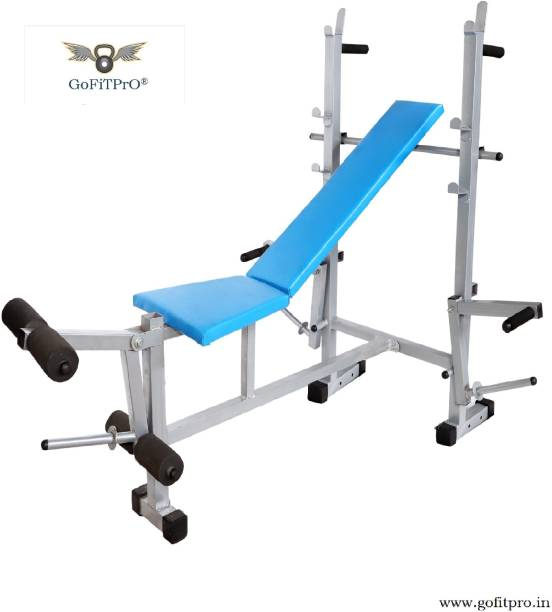 GoFiTPrO GoFiTPrO Multipurpose Home Gym 8 in 1 Bench (Powder Coated Silver Colour) Multipurpose Fitness Bench