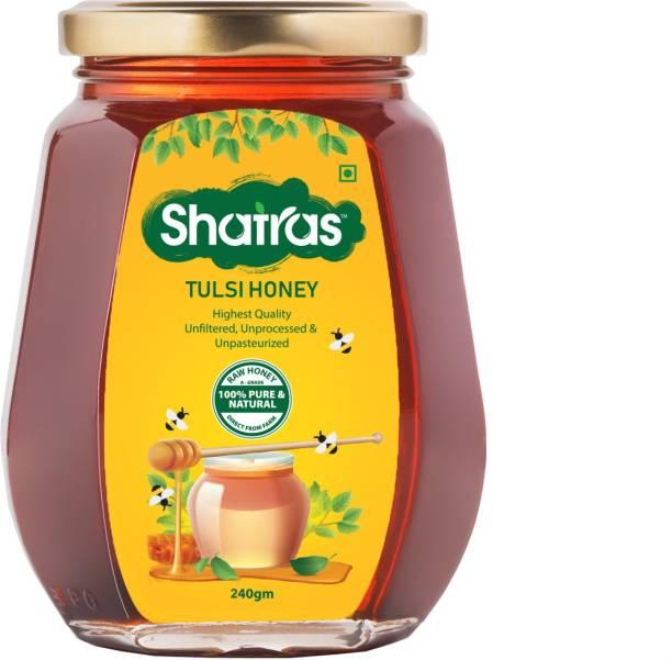 Shatras Tulsi Honey 100% Organic Pure and Natural - No Added Sugar, Colour & Preservatives