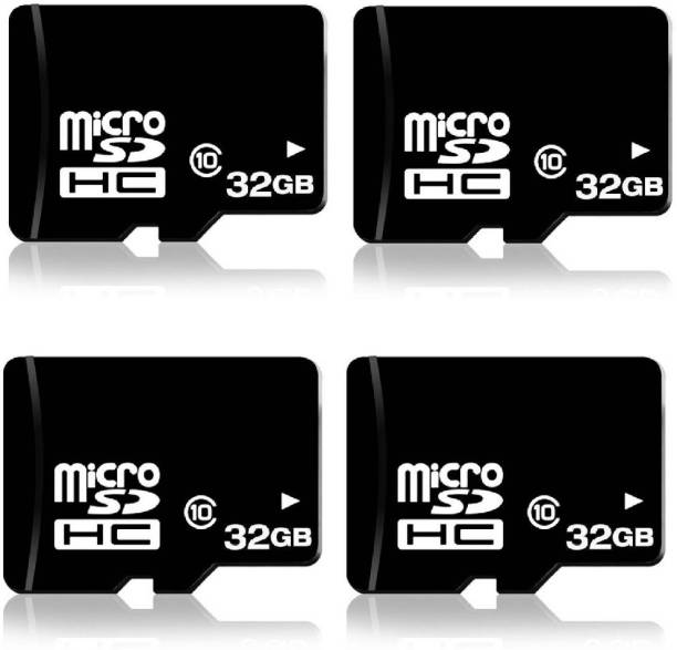 RKS 32GB MicroSD Cards Class10 Memory Card ( Pack Of 4 ) 32 GB MicroSD Card Class 10 48 MB/s  Memory Card