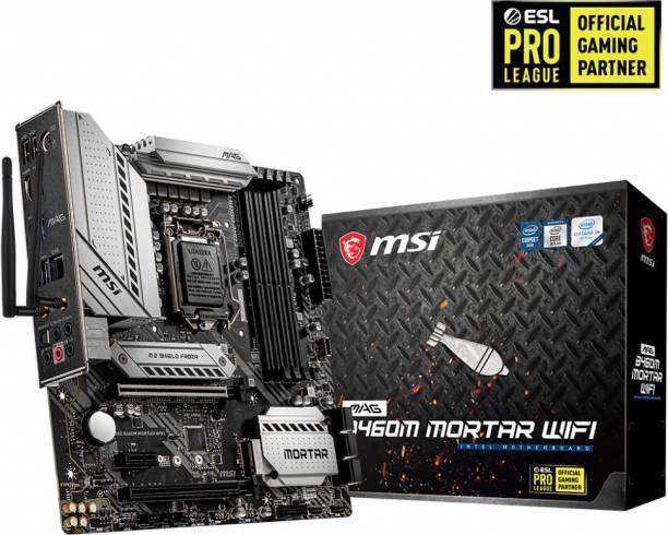 msi MAG B460M MORTAR WIFI Mini-ATX LGA 1200 Gaming Motherboard