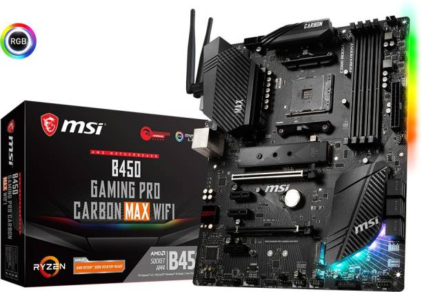 MSI B450 GAMING PRO CARBON MAX WIFI ATX AM4 Gaming Motherboard
