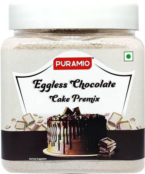 PURAMIO Eggless Chocolate Cake Premix, 350 g