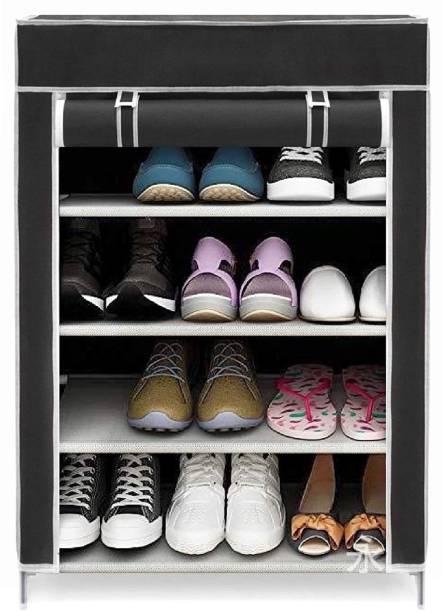 Attache Premium Multi-Purpose Shoe Rack, 4 Shelf Metal Shoe Stand