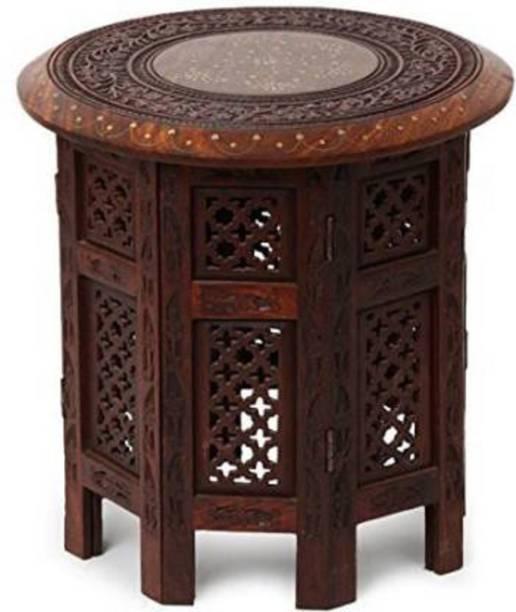 W S HANDICRAFTS Sheesham Wood Solid Wood Side Table Solid Wood Corner Table