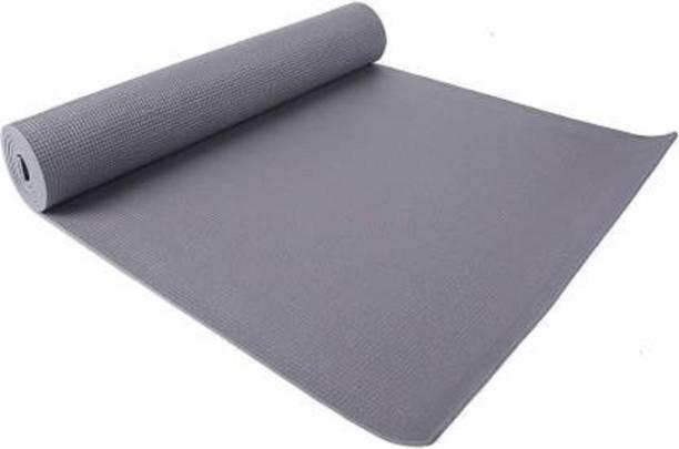 FYLFLUENT Yoga met Grey 4 mm Exercise & Gym Mat