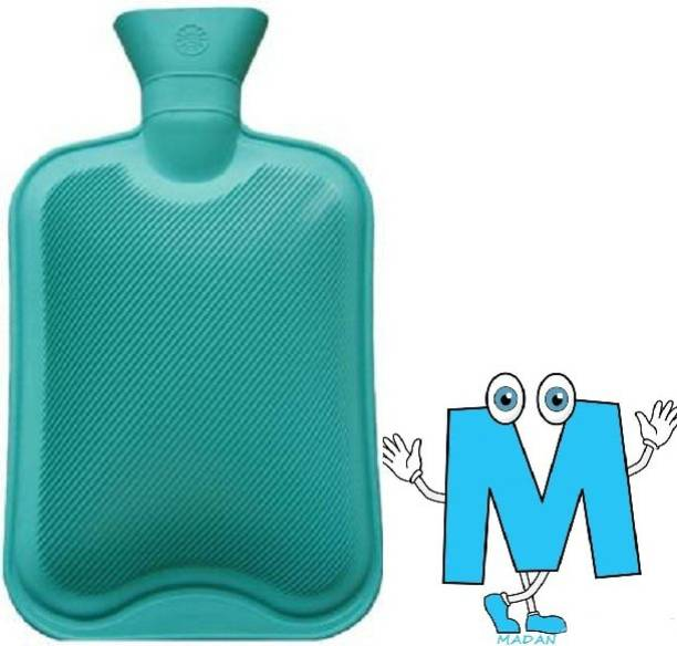 Madan Joint Pain Relief Rubber Hot Water Bottle/Bag Non-Electric 2 L Hot Water Bag  (Multicolor) Non-Electrical 2 L Hot Water Bag
