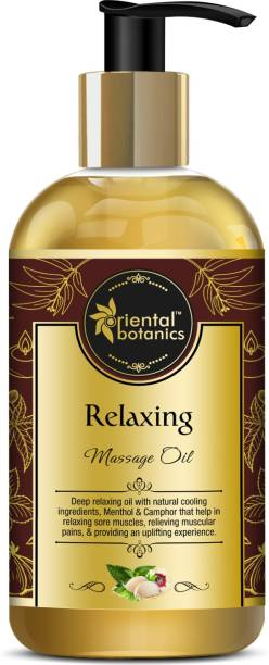 Oriental Botanics Relaxing Body Massage Oil For Pain Relief in Back, Legs, Arms, Knee, Body