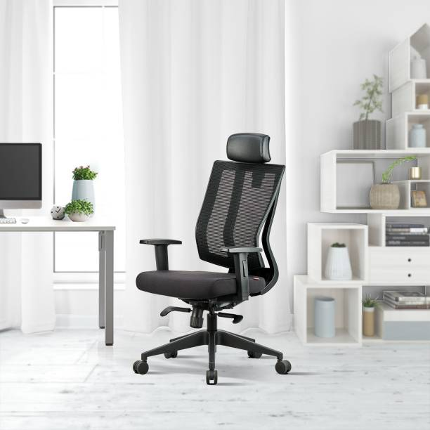 Featherlite Liberate HB Mesh Fabric Office Adjustable Arm Chair