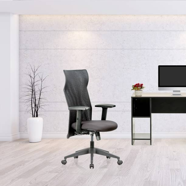 Featherlite Contact HB Mesh Fabric Office Adjustable Arm Chair