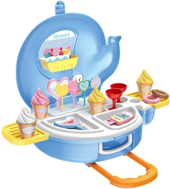Toy Shack Dessert Play set with Trolly, Accessories and Toys for Kids