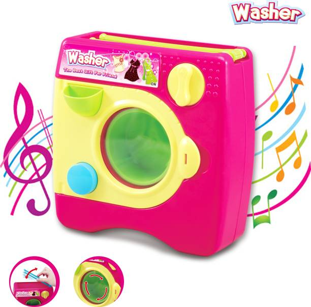 Toy Shack Constructive Playthings Appliances Toy Washing Machine with Realistic Sounds and Lights Toy for Kids