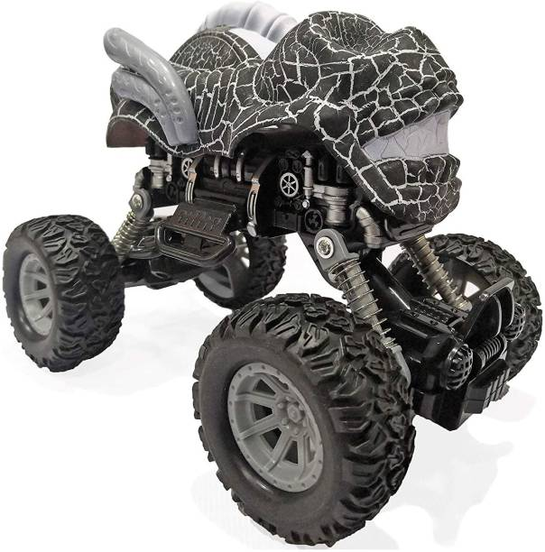 Toy Shack Pull Back Dinosaur Monster Truck with Big Rubber Wheels for Kids