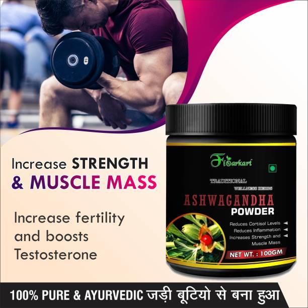 Floarkart Ashwagandha Ayurvedic Powder For Help to reduce anxiety and stress 100% Herbal
