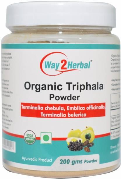 Way2Herbal Organic Triphala Powder For Digestion - 200g