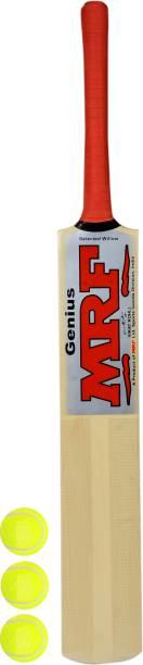 MRF VIRAT KOHLI Signed Full Sized Poplar Willow Cricket Bat With 3 Tennis balls Poplar Willow Cricket  Bat