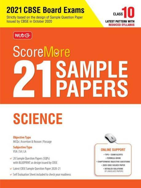 Scoremore 21 Sample Papers Cbse Boards Class 10 Science