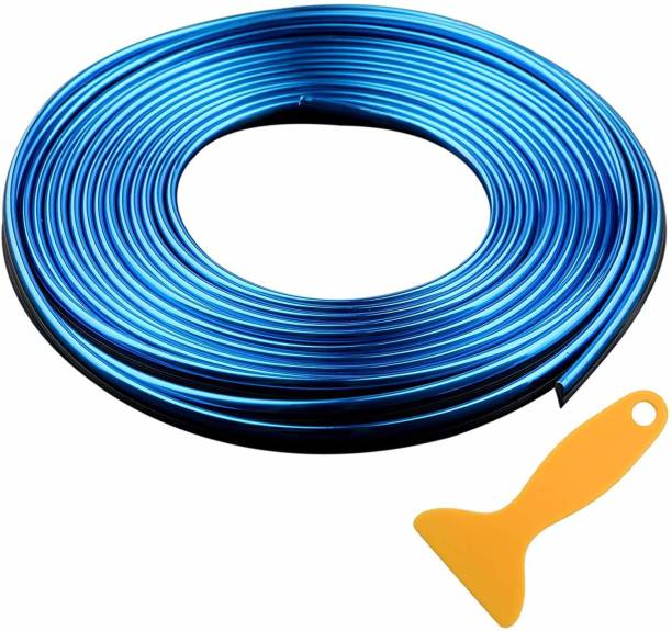 Maison Car Interior Trim Strips - 16.4ft Universal Car Gap Fillers Automobile Moulding Line Decorative Accessories DIY Flexible Strip Garnish Accessory with Installing Tool (5M- Blue) Car Beading Roll For Grill and Garnish Cover