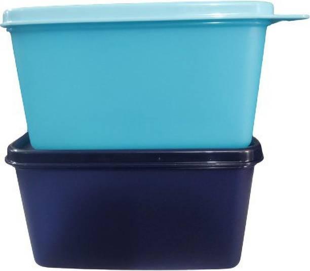 TUPPERWARE Keep tab m Plastic Utility Container ( navy blue + sky blue ) 1200ml sf2  - 1200 ml Plastic Utility Container