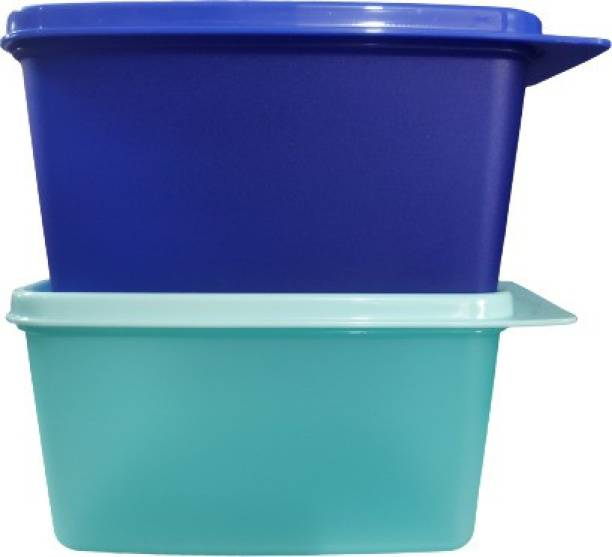 TUPPERWARE Keep tab m Plastic Utility Container ( blue + sea green ) 1200ml sf2  - 1200 ml Plastic Utility Container