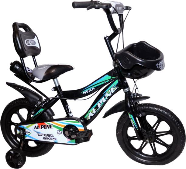 Alpine Bmx black smart unisex bicycle for kids 2-5 years 14 T BMX Cycle