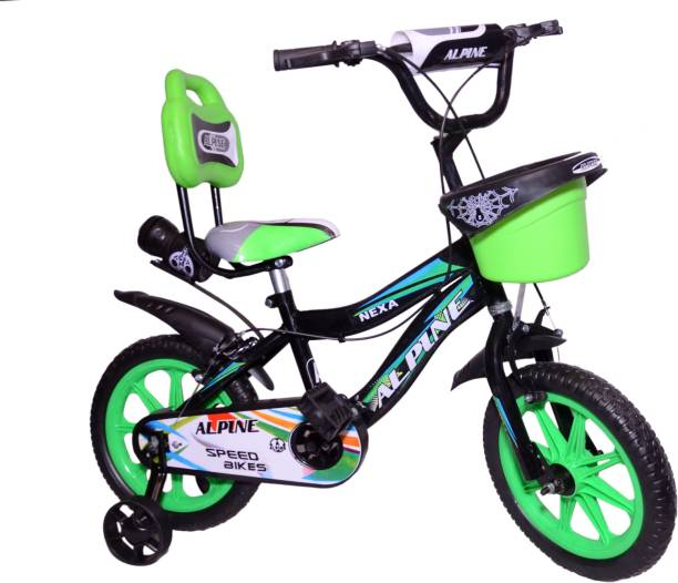 Alpine Bmx smart Black green unisex bicycle for kids 2-5 years 14 T BMX Cycle