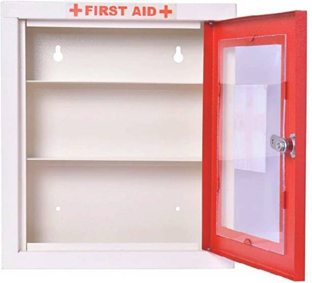 Spylock FIRST AID BOX FIRST AID KIT BOX MEDICAL BOX EMERGENCY BOX HOME OFFICE SCHOOL WALL MONTABLE BOX Surface Mounting Medicine Cabinet