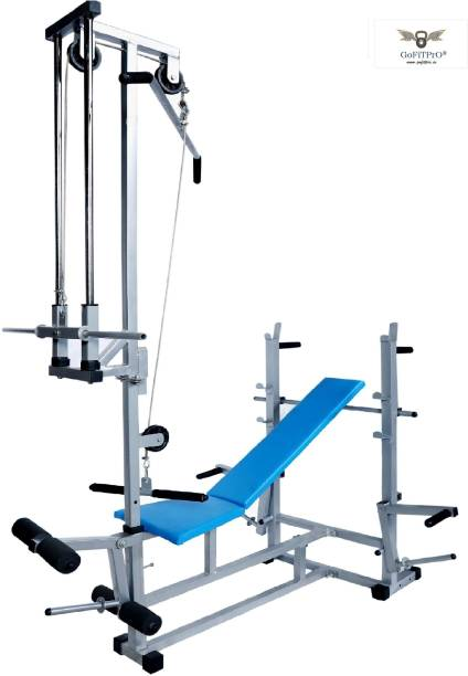 GoFiTPrO Multipurpose 20 in 1 BENCH - DOUBLE SUPPORT SILVER Multipurpose Fitness Bench