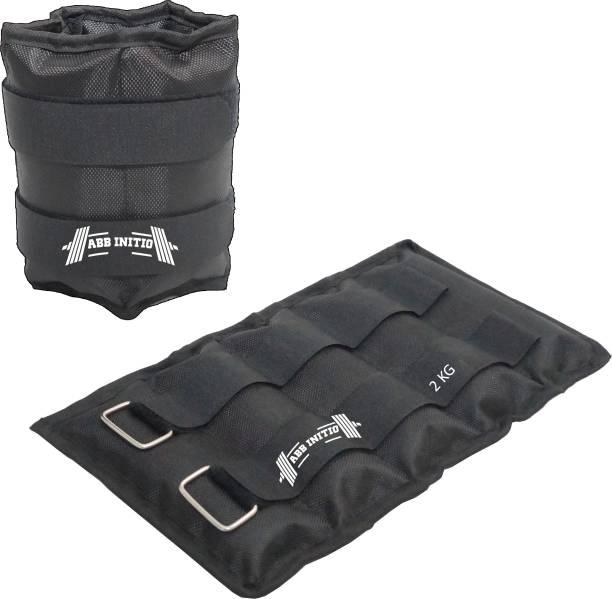 ABB INITIO ANKLE WEIGHT (BLACK) 2.KG PAIR (2.KG X 2 PCS) Black Ankle Weight, Wrist Weight