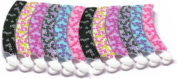 BHARATGAURAV Floral Banana Plastic Hair Clips for Girls and Women (Multicolour) -Combo of 12 Hair Accessories Banana Clip