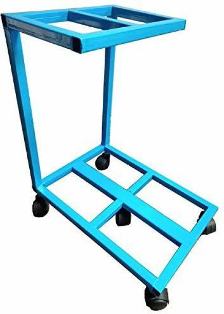RAJCHEIF IT Double Inverter Battery Trolly Stand with 1inch Heavy Pipe in 5kg Metal (Suitable for All Type of Batteries) Trolley for Inverter and Battery