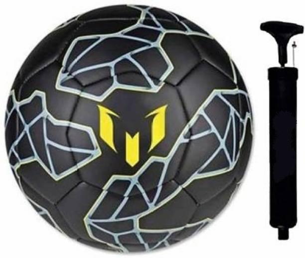 RIO PORT BLACK MESSY PU, PVC Football, Size 5, (Black) Football Kit