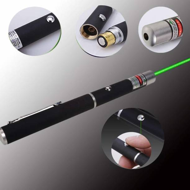 VIS VARSHA INDOTECH SALES Green Multipurpose Laser Light Disco Pointer Pen Beam with Adjustable Antena Cap to Change Project Design for Presentation for Kids Toy.