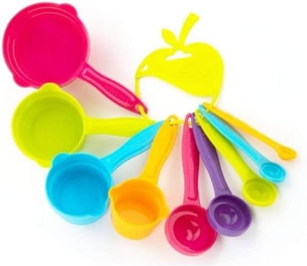 CITRESA 9 Pcs Multicolor Cup Spoon Set Measuring Cup Set