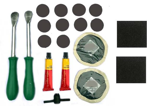 Schrodinger 30060 Bicycle Cycle Bike Tyre Puncture Repair Kit Portable 19pcs Tubed Tyre Puncture Repair Kit