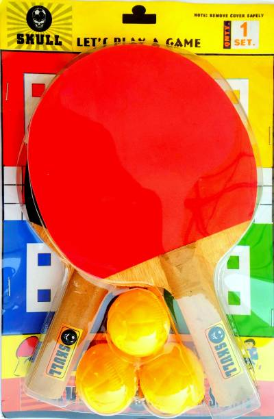kartplus Amazing Table Tennis Play Set combo ( 2 Bat and 3 TT balls ) Gift Ping Pong Game Multicolor Table Tennis Racquet