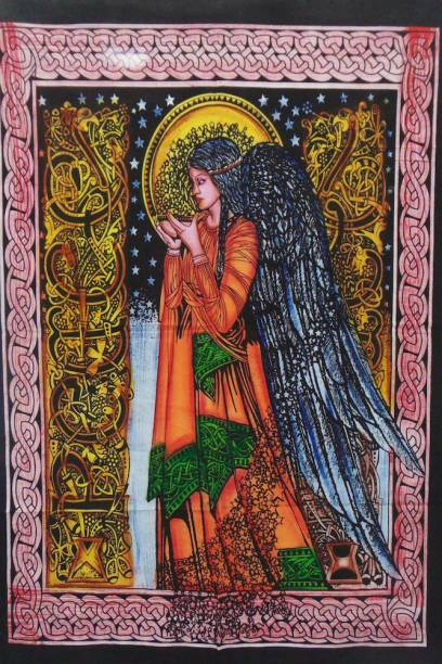 Heyrumbh Handicrafts Good Luck Standing Angel Tapestry