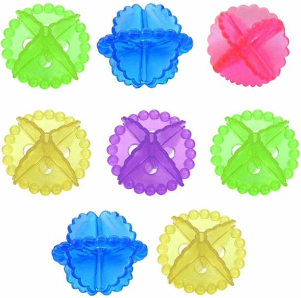 CIAZA Soft Silicone Laundry Ball For Cloth Cleaning washing machine ball set of 8 (Multicolor) Detergent Bar