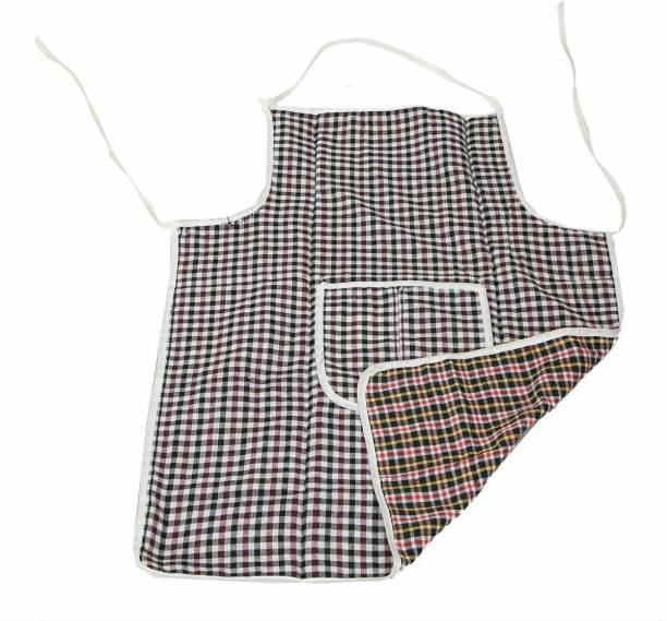 FORE TREND Cotton Home Use Apron - Free Size