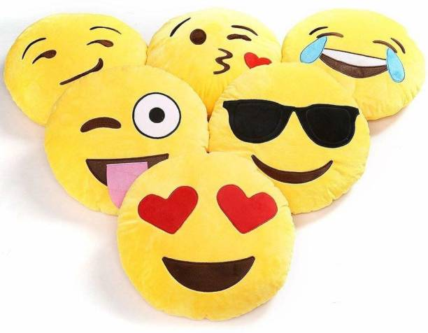 KNIGHT ANGEL Microfibre Smiley Cushion Pack of 5