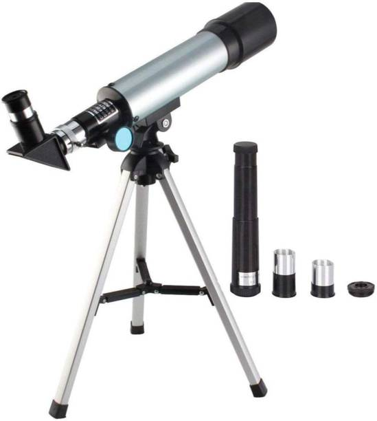 GROMITE GT- 90X Zoom Astronomical Land and Sky Refractor Telescope Optical Glass Metal Tube with Tripod Refracting Telescope