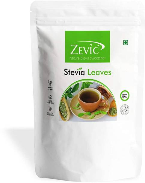 Zevic Natural Stevia Leaves | Keto Friendly | Hand Picked Leaves Sweetener