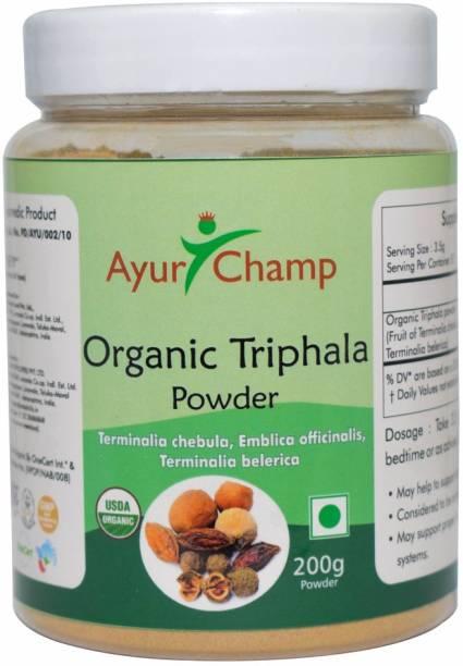 Ayur Champ Organic Triphala Powder with Amla, Harde & Baheda 200g
