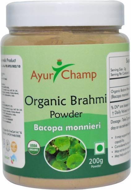 Ayur Champ Organic Brahmi Powder 200 gram - Pack of 4