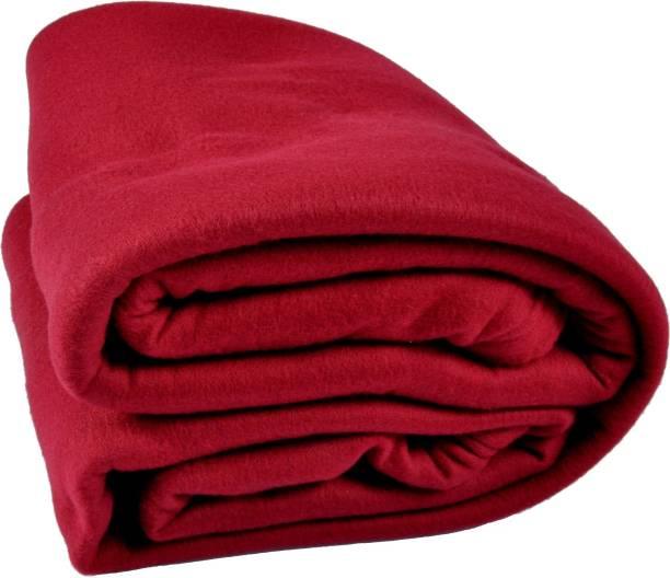 Kema Solid Single Coral Blanket